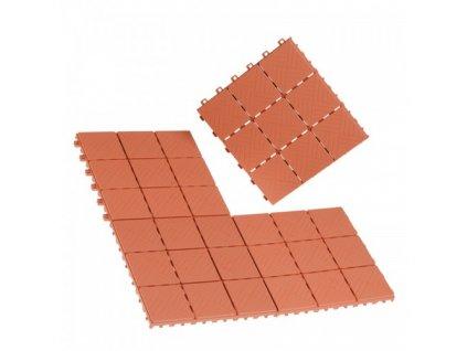 EASYmaxx - Podlahové dlaždice, terakotový vzhled, 12 kusů. 30 x 30 x 2 cm