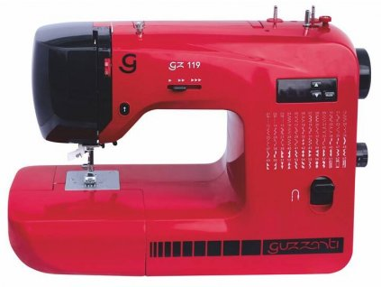 Šicí stroj Guzzanti GZ 119 / červený / ROZBALENO