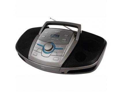 Radiomagnetofon s CD Sencor SPT 5280 - černý/stříbrný / ROZBALENO