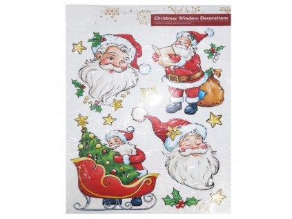 EmaHome - Vánoční nálepky do okna - Santa Claus
