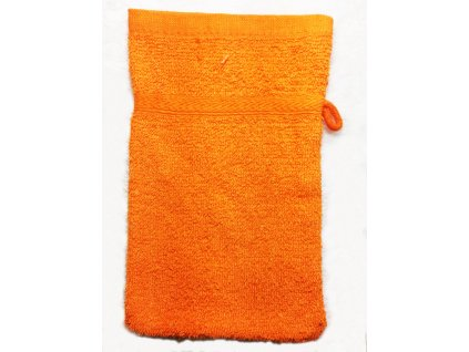 EmaHome - Koupací froté žínka 15x21 cm bavlna / oranžová