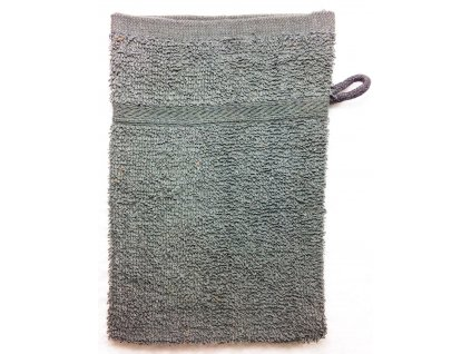 EmaHome - Koupací froté žínka 15x21 cm bavlna / šedá