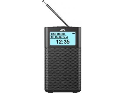 JVC kompaktní rádio RA-C20DAB + bluetooth / černý / ROZBALENO