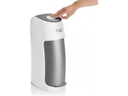 Výrobník sody Soda Trend ST2-G100 - bílý/stříbrný / 2 skleněné lahve / CO2 lahev / ZÁNOVNÍ