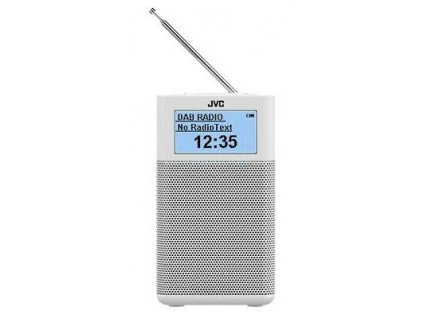 JVC kompaktní rádio RA-C20DAB + bluetooth - bílé / ROZBALENO