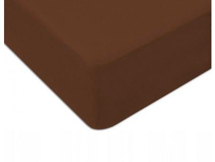 EmaHome - Jersey prostěradlo 120x200 cm hnědá 308