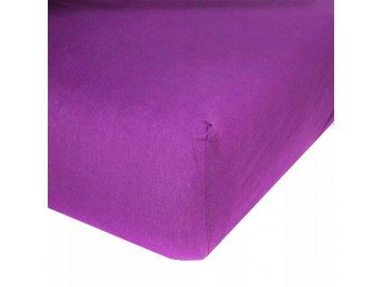 EmaHome - Jersey prostěradlo 120x200 cm fialová 316