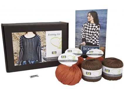Hnědá egyptská bavlna DesignEtte Rural Lanscape - XS