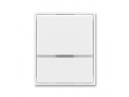 Kryt vypínače ABB Element Time bílá/ledová bílá 3558E-A00653 01 s průzorem