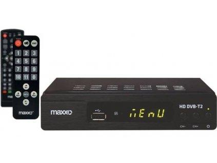 Set-top box Maxxo STB T2 + senior ovladač / černá / ROZBALENO
