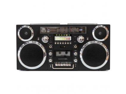 Radiomagnetofon s CD GPO Brooklyn - černý / ROZBALENO