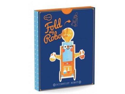 3D skládačka z kartónu Krooom Fold my Robot!