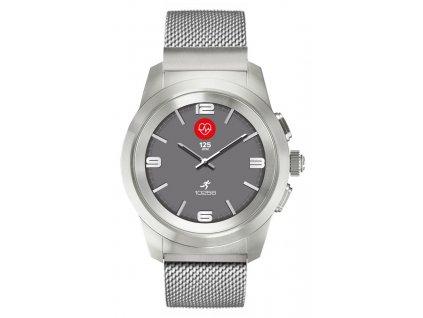 Chytré hodinky MyKronoz ZeTime Elite Brushed Silver Milan - 44 mm / ZÁNOVNÍ