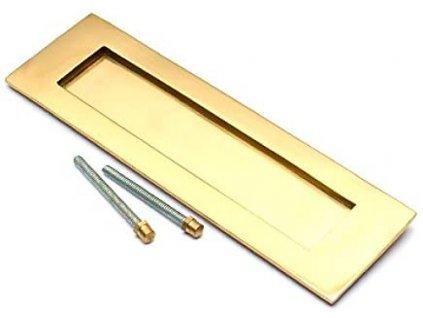 Poštovní vhoz BH03589 250 x 75 mm / mosaz / zlatá