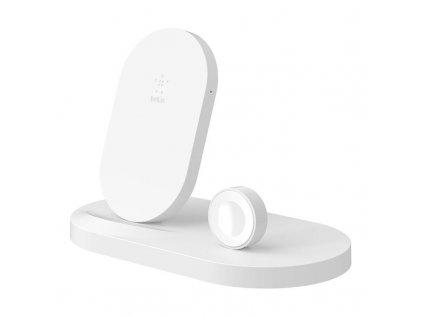 Bezdrátová nabíječka Belkin Boost Up pro iPhone + Apple Watch + USB-A port / bílá / ZÁNOVNÍ