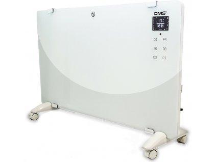 Teplovzdušný konvektor DMS Germany GKW-2000W / bílý / časovač / Wi-fi / dálkové ovládání / 2000W