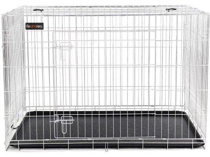 Přepravka pro psy s podnosem PPD42W / 106 cm / bílá