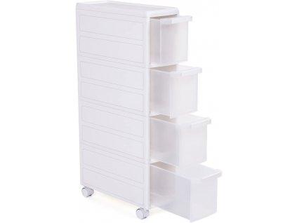 Koupelnová skříňka s kolečky KFR05W / bílá