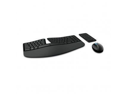 Klávesnice s myší Microsoft Sculpt Ergonomic CZ/SK (L5V-00019) / černá / POŠKOZENÝ OBAL