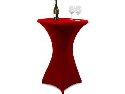 Elastický potah na koktejlový stůl Vanage VG-9122 / 70 - 80 cm / červený