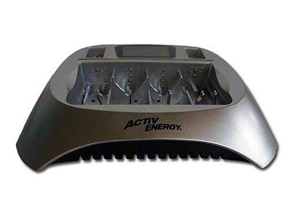 Nabíječka Active Energy MD 13903 (AA, AAA, 9V) / černo-stříbrná / zánovní - nefunkční slot