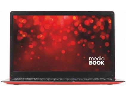 "Ntb mediaBOOK 14 Celeron N3350, 4GB, 64GB, 14.1"", Full HD, bez mechaniky, Intel UHD Graphics, BT, CAM, Win10 Pro - červený / ROZBALENO"