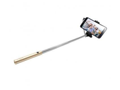 Selfie tyč FIXED Snap Mini - zlatá / FIXSS-SNM-GD / - zlatá / ROZBALENO