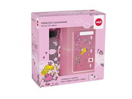 2-dílná svačinová sada pro děti s lahví a boxem Emsa Princess - princezny