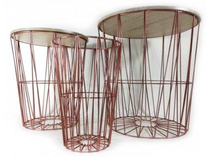 3dílná sada odkládacích stolků Home & Co