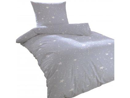 Bavlněné povlečení Home Ideas 155x220 cm - Světle modré hvězdy