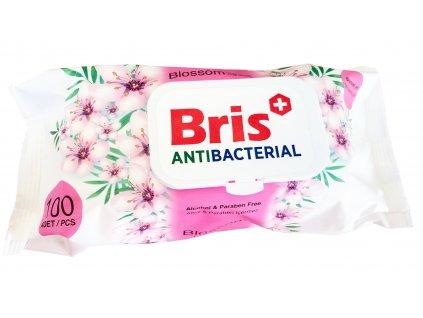 Bris vlhčené Antibakteriální ubrousky 100 ks