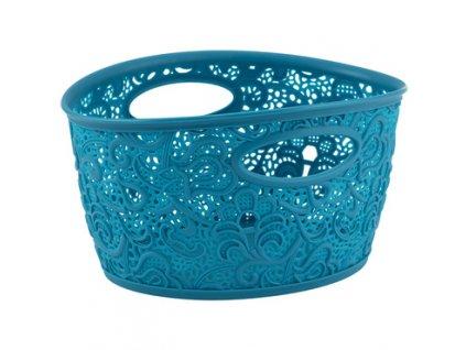 Dekorativní plastový košík s úchyty Victoria Curver - modrá