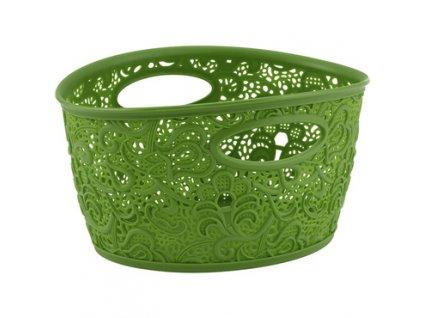 Dekorativní plastový košík s úchyty Victoria Curver - zelená