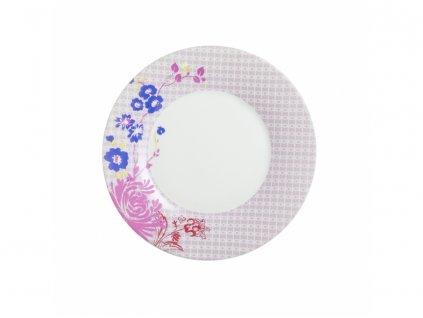 Dezertní květovaný talíř Luminarc 1ks 22cm