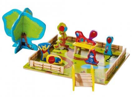 Dřevěné dětské 3D puzzle Medvídek PÚ