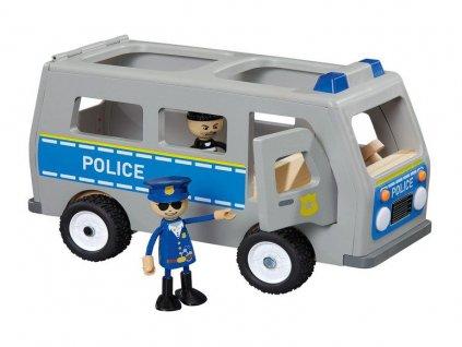 Dřevěné policejní auto Playtive Junior / ohýbací panáček / policista