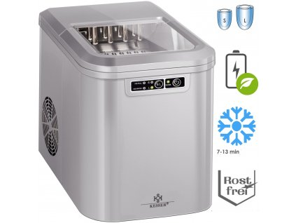 Kesser výrobník ledu / LED displej / stříbrný / až 15 kg / 24h
