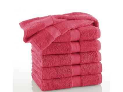 Měkký froté ručník Piruu 50x100 cm, 500 g/m² - Červená