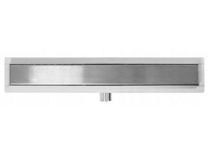 Nízký lineární odtok - NEO Pure 600 N - Stříbrná | Odtokový kanálek | Sprchový žlab