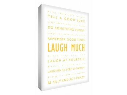 Obraz Feel Good Art Laugh Much 30,5 x 20 cm