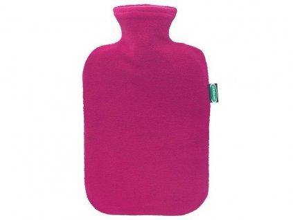 Ohřívací láhev s fleecovým potahem Sensiplast - růžová