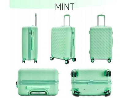 Pevný kufr na kolečkách 35 l - Mint