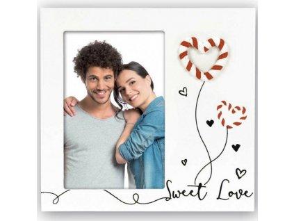 Rámeček na fotku s romantickým vzorem 10x15 cm
