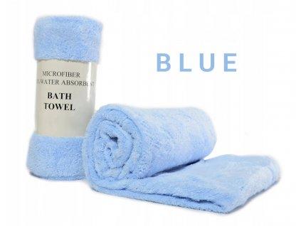 Rychleschnoucí měkký ručník NICE 50 x 90 - Modrý