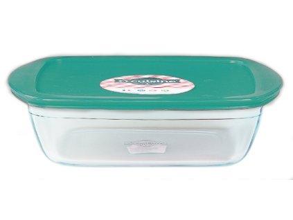 Skleněná dóza O'Cuisine 1,1 l 23x15 cm - Zelená