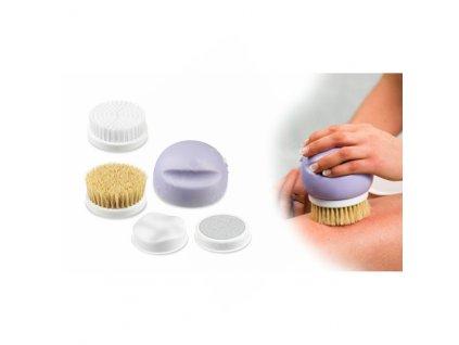 Sonický čistící kartáček / masážní kartáček na obličej a tělo 4v1 Cenocco CC9049