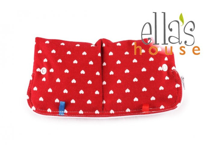 Moon pouch Red Hearts