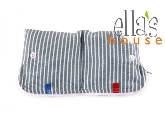 Moon pouch Blue Stripes