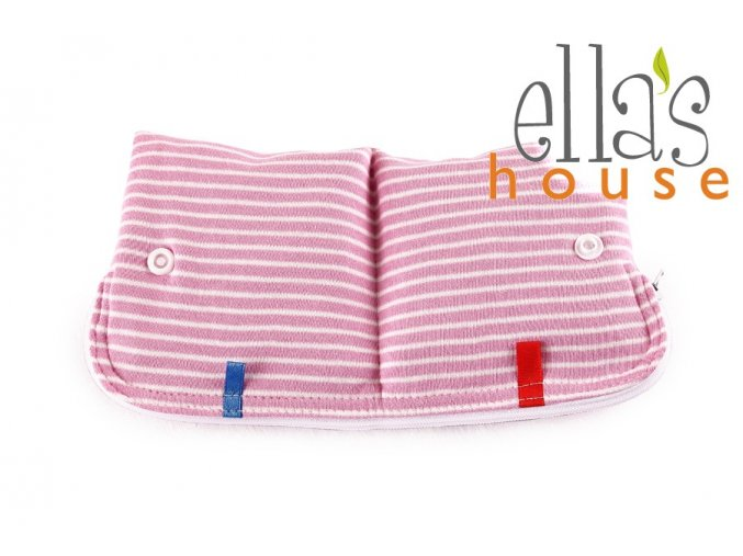 Moon pouch Pink Stripes
