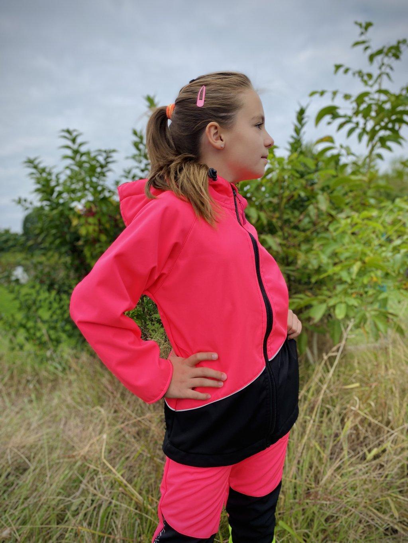 neonově zářivá softshellová bunda